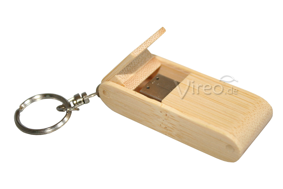 vireo holz usb stick klappbar 8gb bamboo inkl gravur ebay. Black Bedroom Furniture Sets. Home Design Ideas
